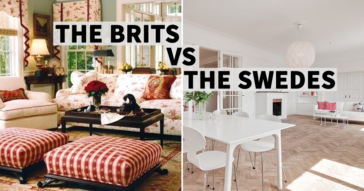 Mixed up vs. Minimalist – The difference between UK and Scandinavian interior design